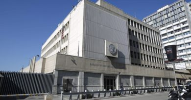 epa05742238 A picture made available on 22 January 2017 shows a general exterior view of the US Embassy in Tel Aviv, Israel, 20 January 2017. The White House press secretary Sean Spicer says that Trump administration started discussions regarding the relocation of US Embassy from Tel Aviv to Jerusalem. US President Donald Trump has cited his intentions to relocate the US embassy to Jerusalem, despite warnings the move will adversely affect the peace process.  EPA/ABIR SULTAN