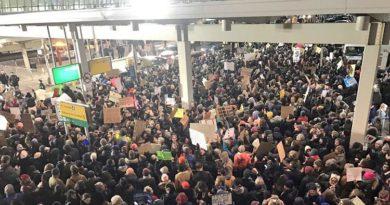 мигранти, протест