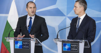 Joint press point with NATO Secretary General Jens Stoltenberg and the President of Bulgaria, Rumen Radev