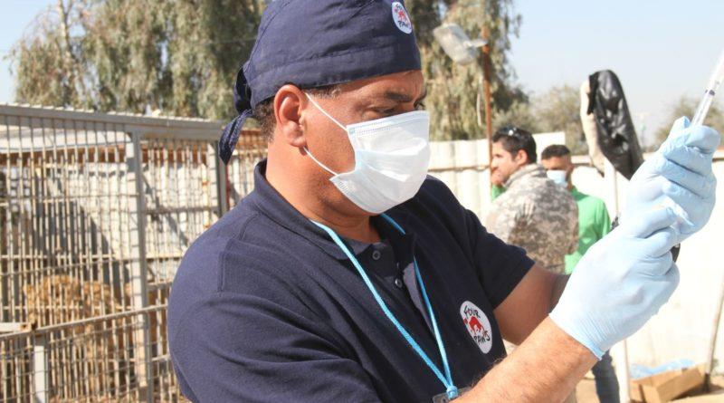 Iraq, Mossul | 2017 02 22 | Amir visits Mossul Zoo and performs vet checks.