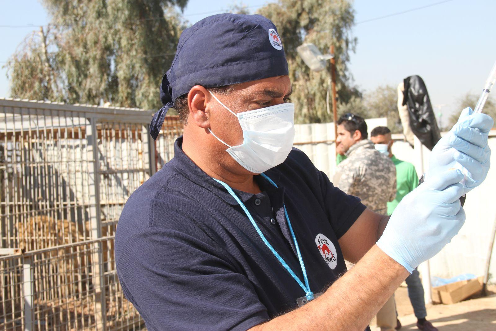 Iraq, Mossul   2017 02 22   Amir visits Mossul Zoo and performs vet checks.