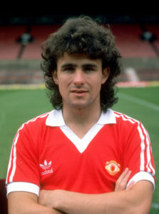 10 Jul 1980:  A portrait of Arthur Albiston of Manchester United during a photo-call held at Old Trafford in Manchester, England.  Mandatory Credit: Allsport UK /Allsport