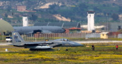 INCIRLIK AIR BASE, TURKEY - MARCH 17:  A U.S. F-16C fighter jet sit at the edge of the runway at Incirlik air base March 17, 2003 near Turkey's southern city of Adana. U.S. and allied aircraft have flown out of Incirlik to patrol over a no-fly zone in northern Iraq since the Gulf War in 1991.  The Turkish Prime Minister dashed any remaining U.S. hopes of a rapid decision to deploy U.S. troops in Turkey for an Iraq war when he said his government will not consider it until it wins a confidence vote. Frustrated U.S. officials said in response that Washington has withdrawn its offer to provide a multibillion-dollar aid package vital to shielding Turkey against the economic impact of war.  (Photo by Ami Vitale/Getty Images)