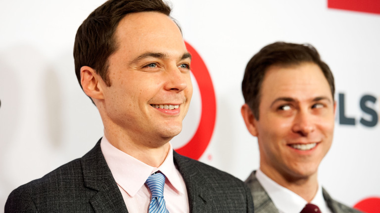 BEVERLY HILLS, CA - OCTOBER 17:  Actor   Jim Parsons (L)  and Todd Spiewak  arrive at the 10th Annual GLSEN Respect Awards at Regent Beverly Wilshire Hotel on October 17, 2014 in Beverly Hills, California.  (Photo by Valerie Macon/Getty Images)