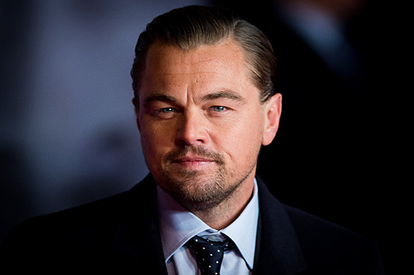 """LONDON, ENGLAND - JANUARY 14:  Leonardo DiCaprio attends UK Premiere of """"The Revenant"""" at Empire Leicester Square on January 14, 2016 in London, England.  (Photo by Samir Hussein/WireImage)"""
