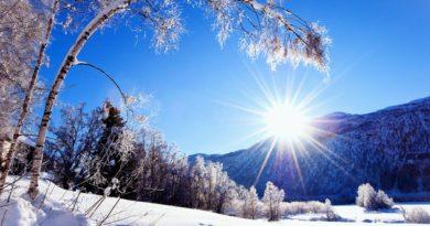 зима слънце