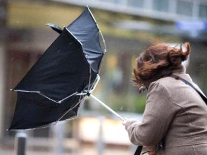 чадър, вятър