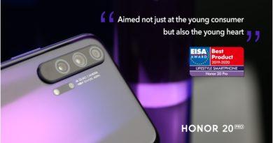 EISA отличи HONOR 20 PRO като най-добрия лайфстайл смартфон за 2019-2020