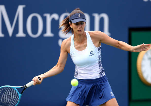 September 3, 2020 - Tsvetana Pironkova against Garbiñe Muguruza during a women's singles match at the 2020 US Open. (Photo by Carmen Mandato/USTA)