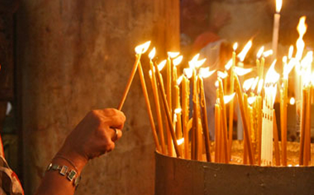 църква свеещи