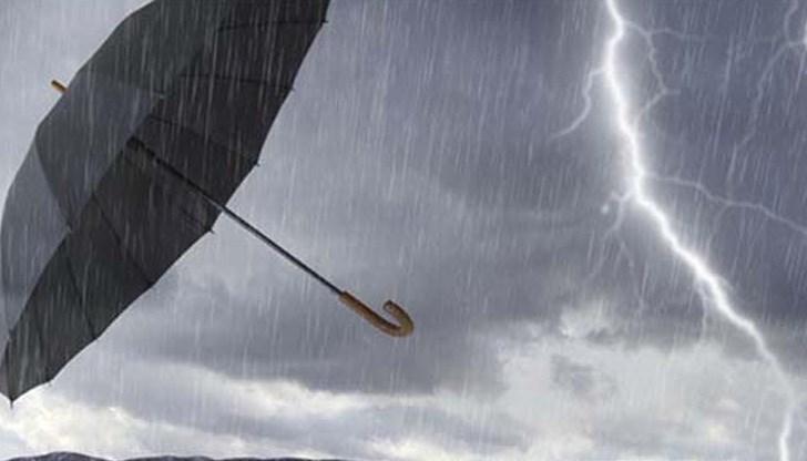 гръмотевици дъжд
