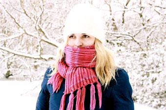 тийнейджър, студ, зима